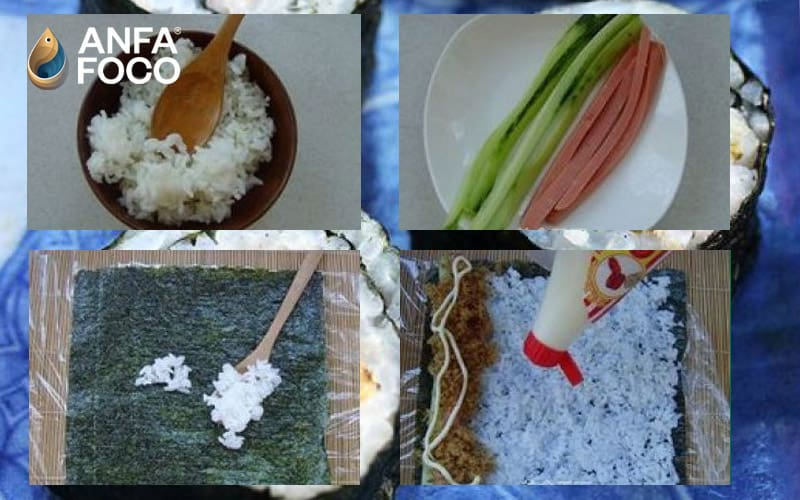 Làm kimbap chà bông thơm ngon dễ làm